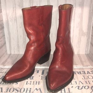 COLE HAAN WHISKEY LEATHER COWBOY BOOTS